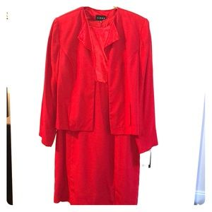 Red fancy 2 piece dress.